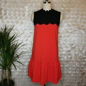 Victoria Beckham Target red scalloped dress
